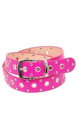 Pink Leather Loaded Rivet & Grommet Belt - SPECIAL #BTCBW2021P