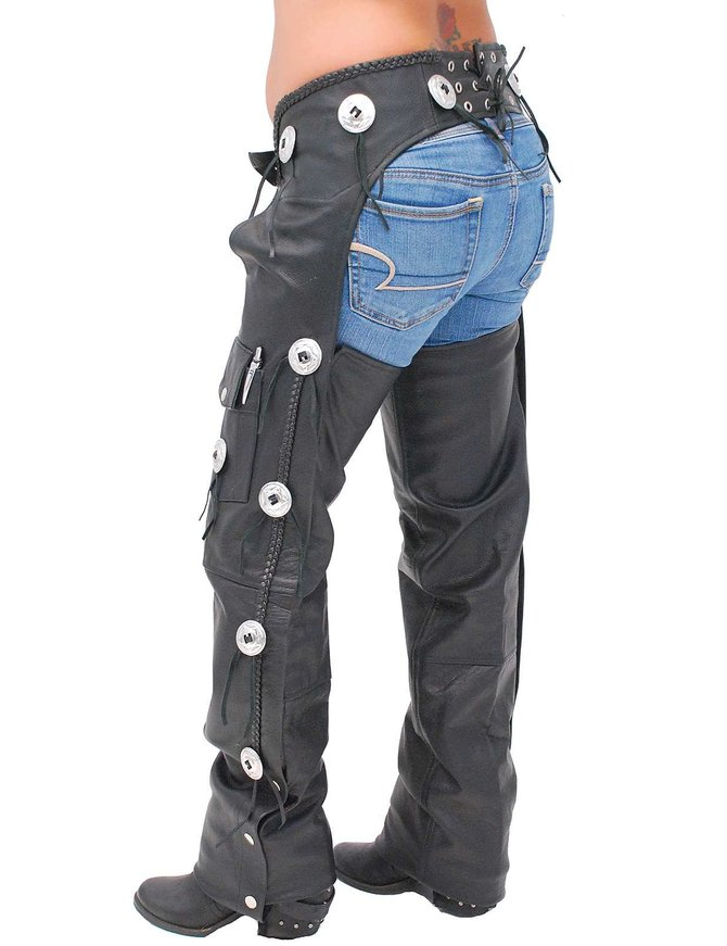 Jamin Leather Western Leather Chaps w/Conchos #C011CC