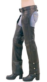Unisex - Basic Heavy Leather Chaps #C1431EC