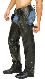 Jamin Leather Premium Buffalo Pocket Chaps w/Zip Thigh #C2255ZK (S-4X)