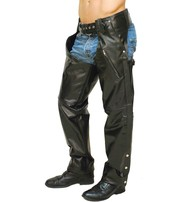 Jamin Leather Premium Buffalo Pocket Chaps w/Zip Thigh #C2255ZK