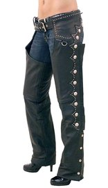 Jamin Leather Naked Leather Western Chaps w/Scallop Trim #C5076SK