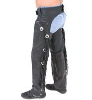 Jamin Leather Buffalo Leather Chaps w/Fringe & Conchos #C701CFB