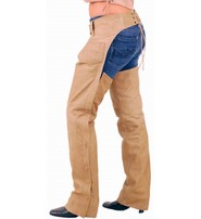Light Brown Leather Motorcycle Chaps #C704N