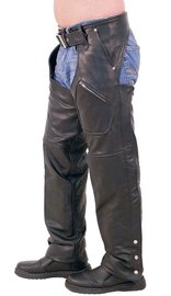 Unik Multi Pocket Lined Premium Leather Chaps #C707P