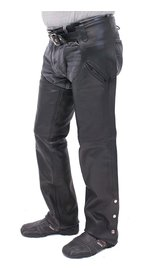 Unik Premium Buffalo Leather Chaps w/Slash Pockets #C7102PK