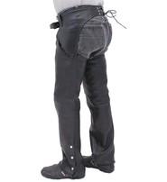 Unik Premium Buffalo Leather Chaps w/Slash Pockets #C7102PK