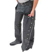 Jamin Leather Heavy Weight Pocket Chaps w/Removable Quilted Linings #C7144PZK