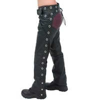 Unik Premium Leather Chaps w/Pant Pockets and Eyelets #C7165GPK