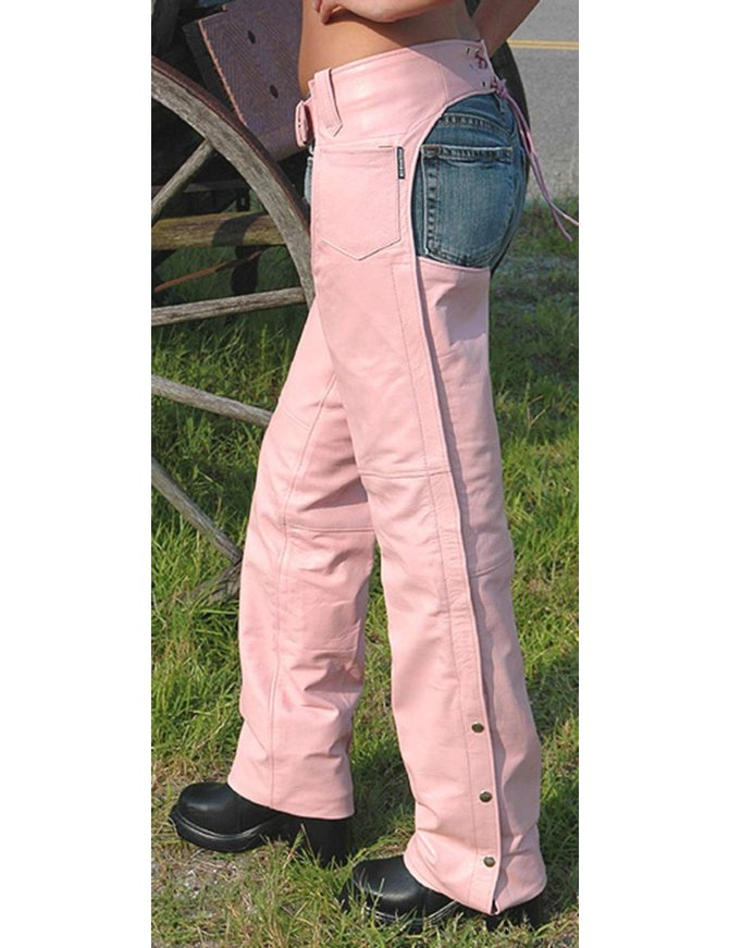 Pink Leather Women's Chaps #C745P