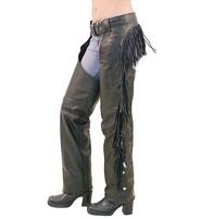 Unik Women's Leather Chaps w/Rear Fringe #C766F