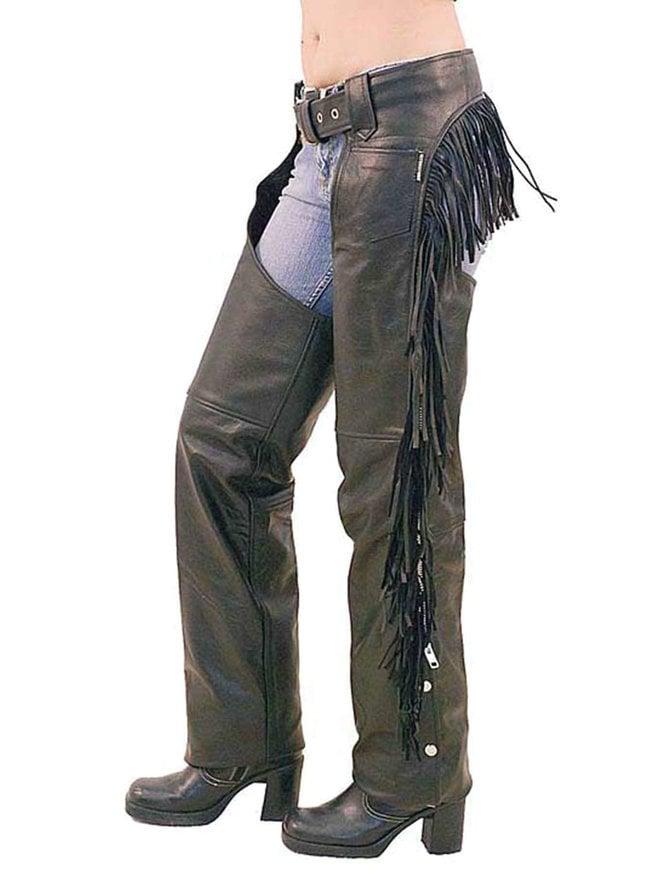Women's Leather Chaps w/Rear Fringe #C766F - Jamin Leather™