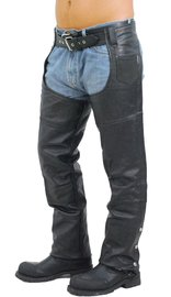 Extra Heavy Classic Biker Leather Chaps - Unisex Limited Offer! #C8116K (XS-4X)
