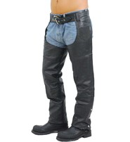 Extra Heavy Classic Biker Leather Chaps - Unisex Limited Offer! #C8116K