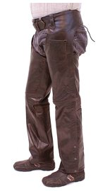 Jamin Leather Dark Brown Leather Chaps #C957RN (S-3X)
