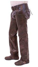 Jamin Leather Dark Brown Leather Chaps #C957RN (S-3X)