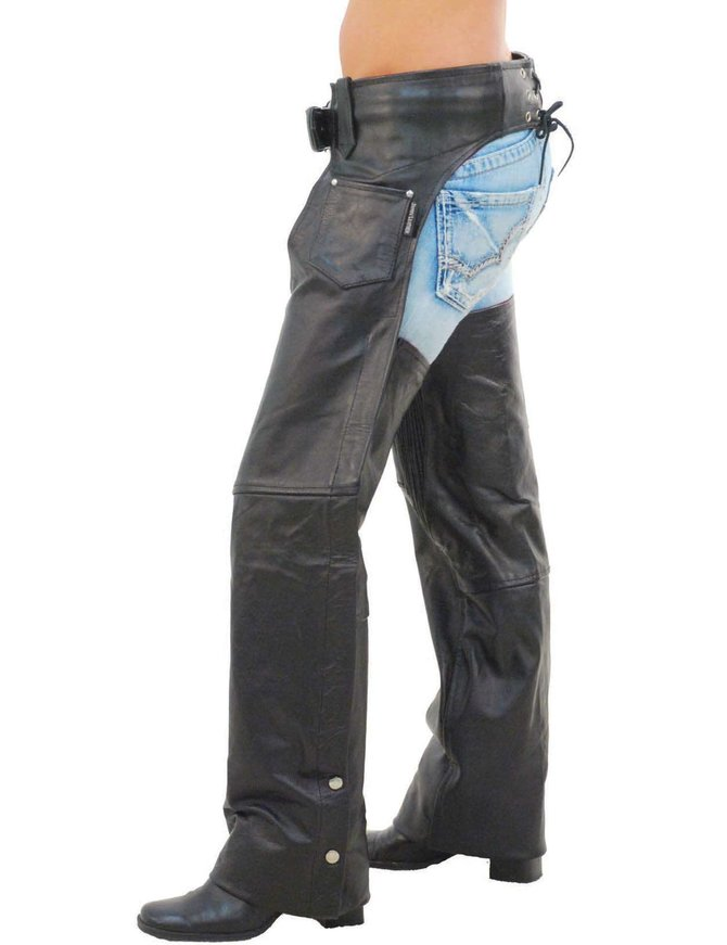 Jamin Leather Comfort Stretch Thigh Premium Buffalo Leather Chaps #C9901