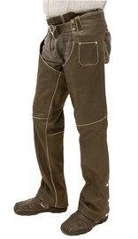 Jamin Leather Vintage Brown Unisex Leather Chaps w/Zipper Cover #CA1045DN