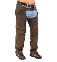 4 Pocket Vintage Brown Leather Chaps w/Removable Lining #CA5500ZDN