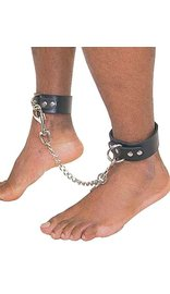 Jamin Leather Anklet Set w/Chain #D503AC