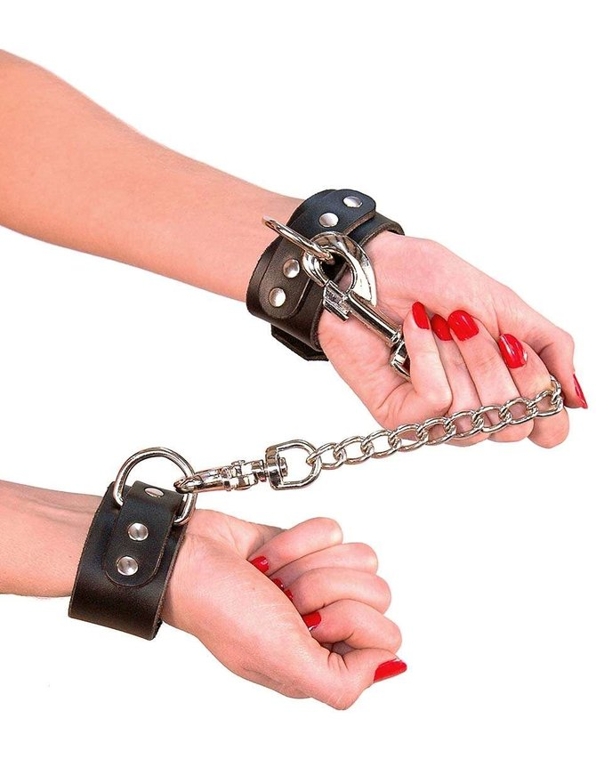 Jamin Leather Heavy Duty Leather Wristlet Set w/12'' Chain #D503WC