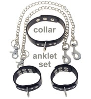 Jamin Leather 5 Piece Anklet D Ring Set #D505A