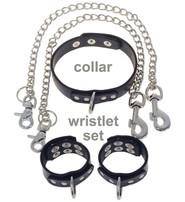 Jamin Leather 5 pc Wristlet D Ring & Chain Set #D505W
