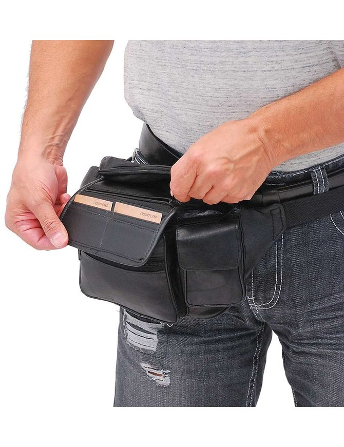 Colossal - Large Leather Waist Bag #FP629X