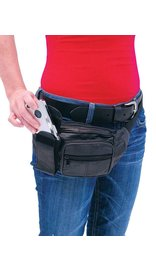 Black Cell Phone Fanny Pack #FP650CEL