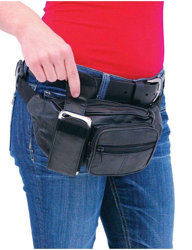 Black Cell Phone Fanny Pack #FP650CEL