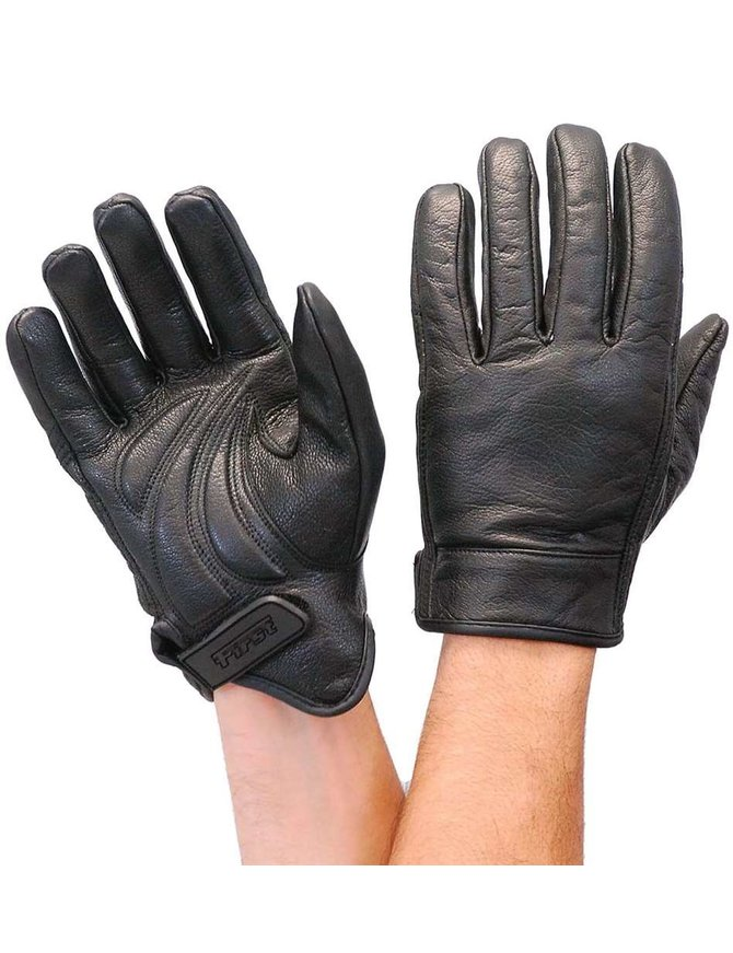 First MFG Premium First Classics Motorcycle Gloves w/Gel Pads #G132GELK