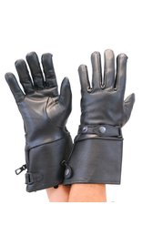Milwaukee Deerskin Stiff Cuff Gauntlet Gloves with Wrist Strap #G264DEER