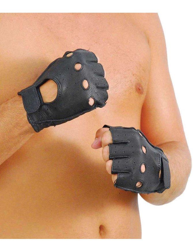Deerskin Fingerless Leather Gloves #G31VNK