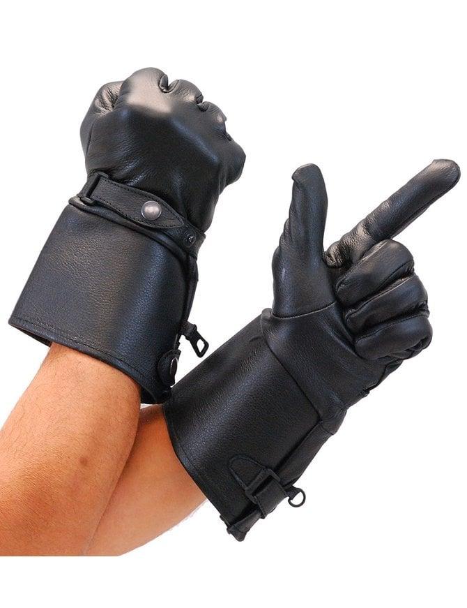 Milwaukee Deerskin Stiff Cuff Gauntlet Gloves with Wrist Strap #G264DEER