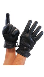 Thinsulate Snap Cuff Leather Gloves with Cell Phone Fingertips #G437K