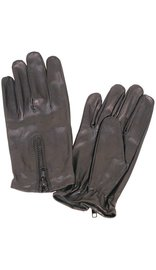 Leather Driving Gloves with Zipper Back #G743ASZ