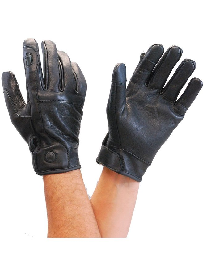 Milwaukee Leather Riding Glove with LED Index Finger Light #G7599LITE