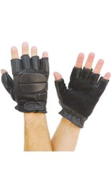 Naked Leather Gel Padded Fingerless Gloves #G884GEL