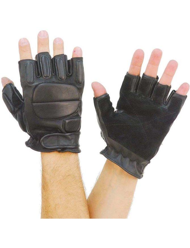 Naked Leather Gel Padded Fingerless Gloves #G884GEL