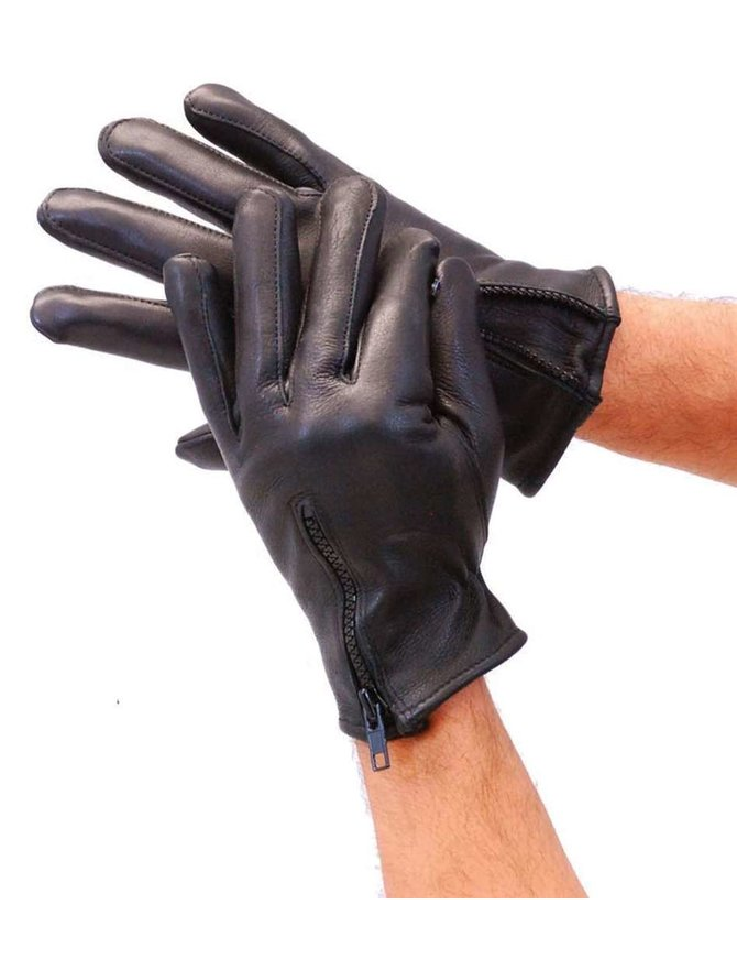 Milwaukee Deerskin Zipper Gloves w/Thinsulate & Fleece Lining #G899NZK