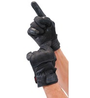 Leather and Denim Gloves w/Touch Screen Fingertips, Hard Knuckles and Venting #GC2020VK