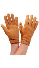 Milwaukee Tan Womens Leather Gloves w/Gunmetal Studs #GL77601ST