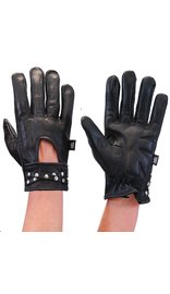 Milwaukee Womens Leather Gloves w/Studded Wrist Strap #GL7765SK