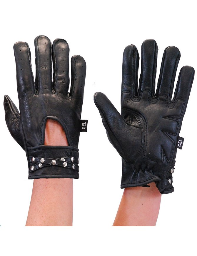 Milwaukee Women's Leather Gloves w/Studded Wrist Strap #GL7765SK