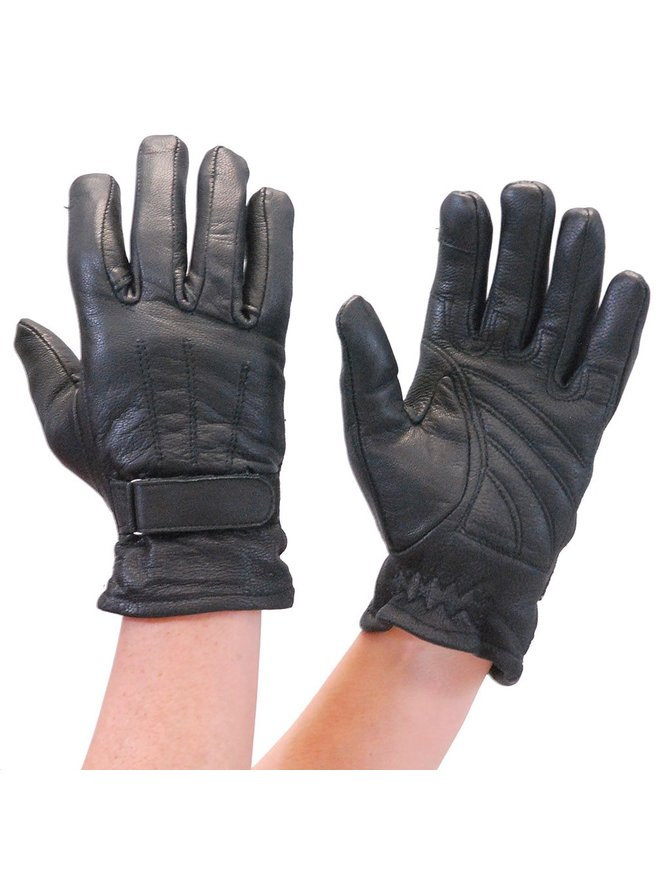 Daniel Smart Women's Leather Gloves with Touch Screen Fingertip #GL800K