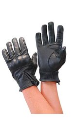 Daniel Smart Women's Premium Leather Riding Glove w/Hard Knuckles & Side Zipper #GL87ZKK