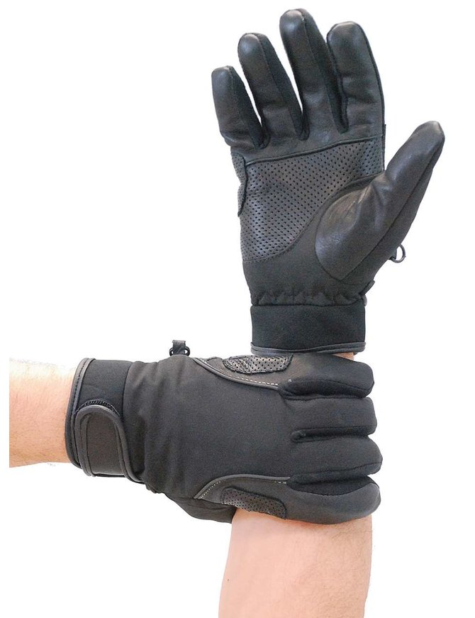 Daniel Smart Lightweight Perforated Leather & Nylon Riding Glove #GMC33VK