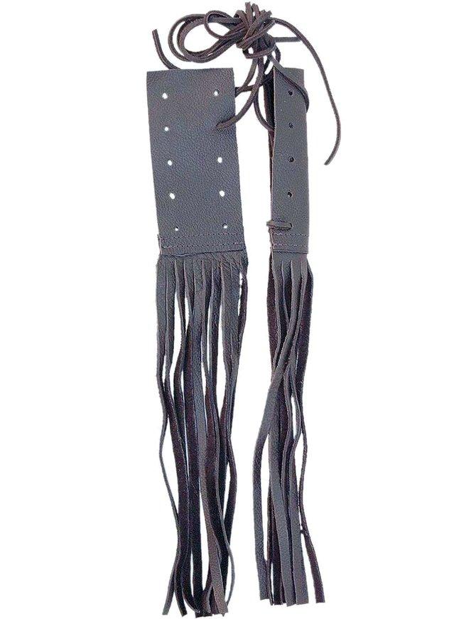 Jamin Leather Clutch & Brake Grips w/10'' Fringe #GR310CB