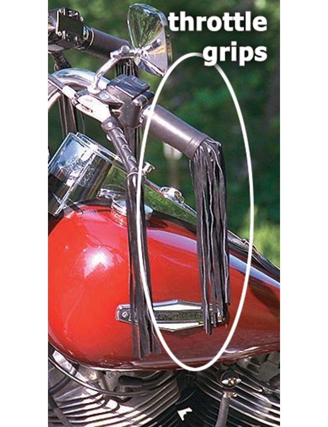 Jamin Leather 10 Inch Throttle Grip Covers #GR310TH