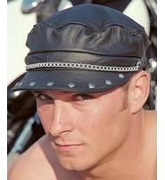 Stud & Chain Biker Cap #H20RC